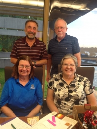 Four reunion committee supervisors, L-R: Lucy Pilbin Adrignola, Lenny Adrignola, Harry Tallacksen and Diane Hurd Risley.